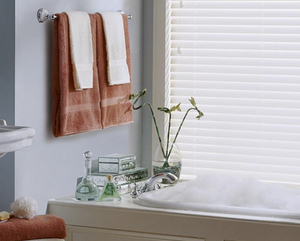 faux wood blinds in bathrooms