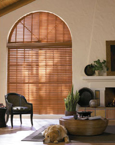 wood window blinds for arches and angles