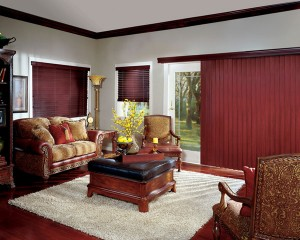 hotizontal window blinds hunter douglas crosswinds_chaintassel_livingroom