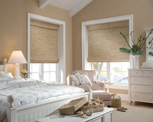 hunter douglas woven shade bedroom