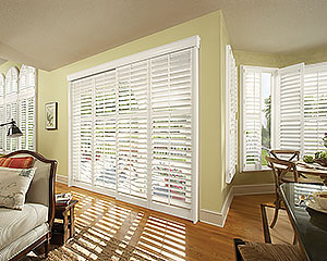 Indoor Window Shutters Livingroom Hunter Douglas