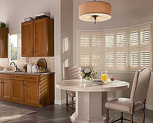 Indoor Window Shutters Newstyle Fronttiltbar Kitchen Hunter Douglas