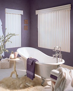 Window-Treatments-for-Bathrooms-Hunter-Douglas-Cadence-Permatilt-Purple-Bathroom