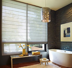 Window-Treatments-for-Bathrooms-Hunter-Douglas-Woven-Roman-Power-Rise-Bathroom