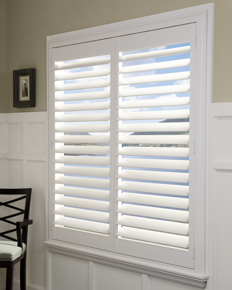 Palm Beach™ Polysatin Shutters Opened