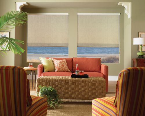 Window treatments for casual room styles st louis for Casual curtain ideas for living room