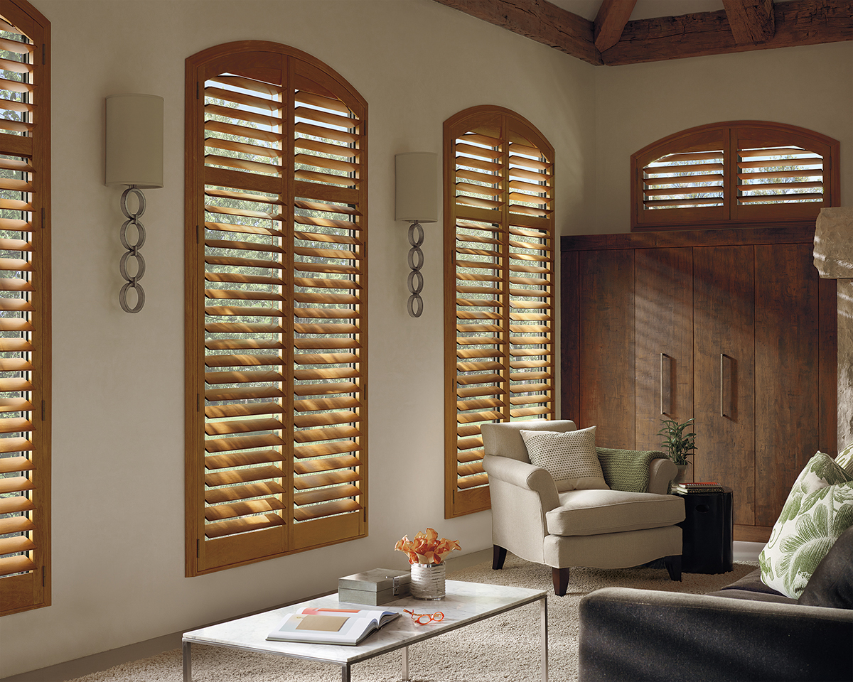 Heritance® Hardwood Shutters With Fixed Specialty Shape System