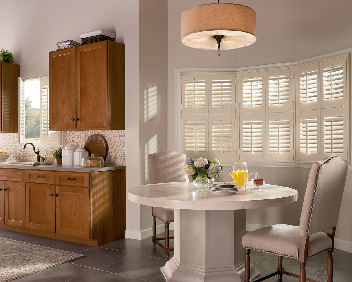 NewStyle® Hybrid Shutters With Front Tilt Bar