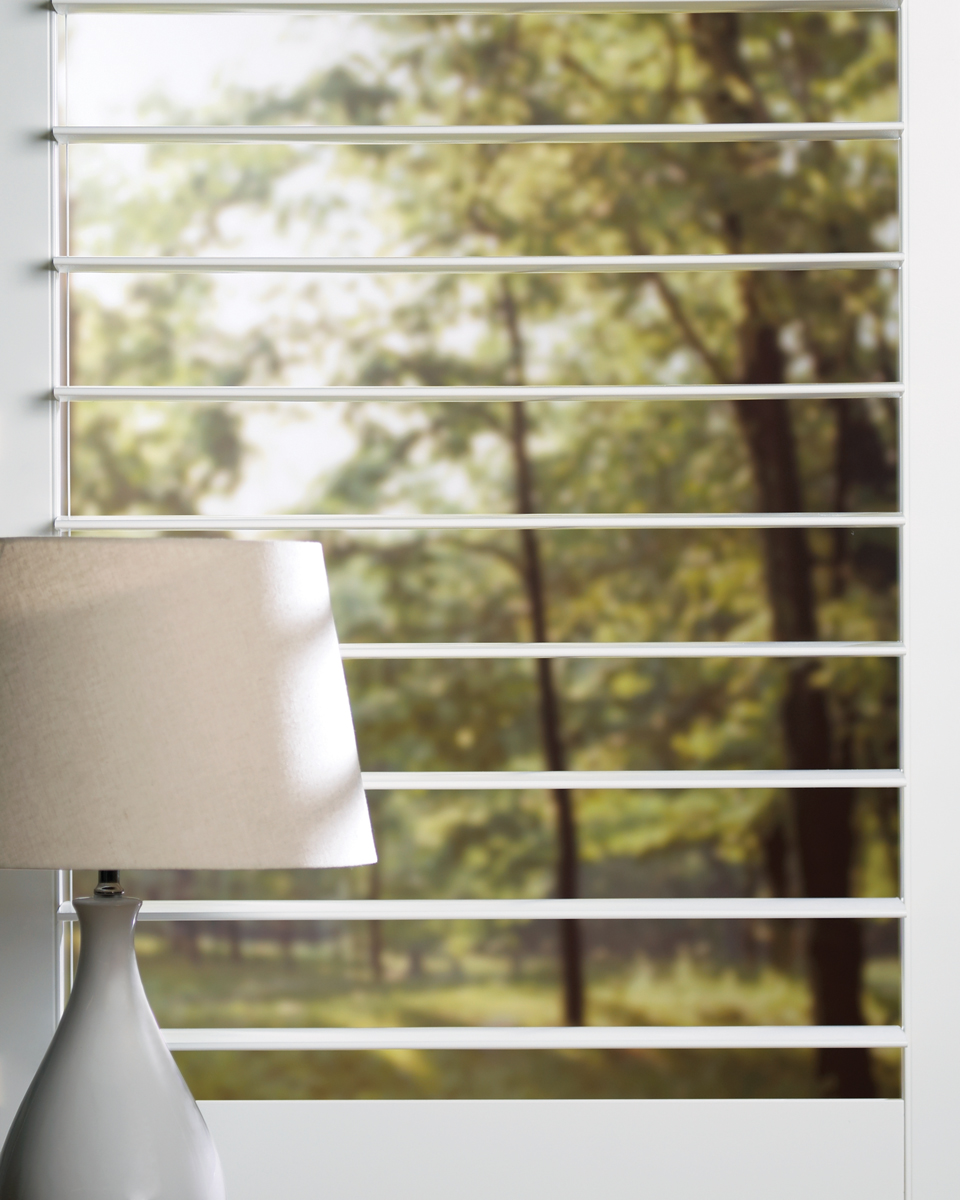 NewStyle® Hybrid Shutters Opened Large